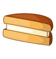 Biscuit icon cartoon style vector image vector image