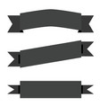 black ribbon banner on white background flat vector image vector image