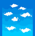 blue sky with clouds cartoon style nature vector image