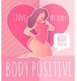 body posirive happy and beautiful plus size girl vector image vector image