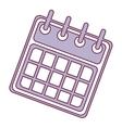 calendar template icon vector image