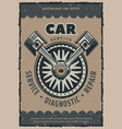 car repair service retro poster vector image