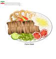 Chelow Kabab The National Food of Iran vector image vector image