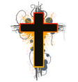 color grunge cross vector image