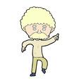 comic cartoon seventies style man disco dancing vector image vector image