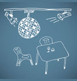 disco ball doodle vector image