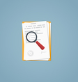 Document magnifying glass vector image