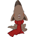 Dog with a red scarf Cartoon vector image vector image