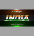 editable text effect - india word with its