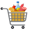 food shopping trolley cart vector image