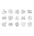 friends couple like and idea head icons set vector image vector image