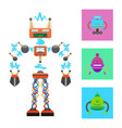 futuristic robot template on white background vector image