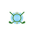 globe golf logo icon design vector image