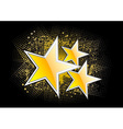 gold stars on the black background vector image vector image