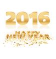 Golden Happy New Year vector image