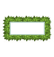 green bushes frame vector image vector image
