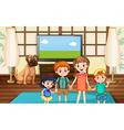 Happy children in the room vector image vector image