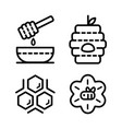 honey outline icons vector image vector image