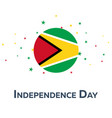 Independence day of guyana patriotic banner vector image