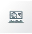 internet banking icon line symbol premium quality vector image vector image