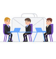 interview for work person gets a job as a manager vector image