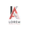 ka modern logo design with gray and pink color vector image vector image