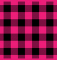 lumberjack plaid pattern in pink and black vector image