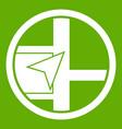 map navigation icon green vector image vector image