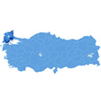 Map of Turkey Tekirdag vector image vector image