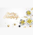 merry christmas holiday background template vector image