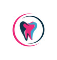 modern style with vibrant color dental care logo vector image vector image