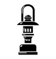 oil lamp icon simple style vector image vector image