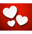 Paper white hearts vector image vector image