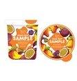 Passion fruit mango Yogurt Packaging Design vector image