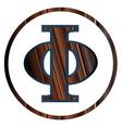 phi greek letter vector image vector image