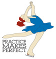 Practice Makes Perfect vector image vector image