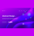 purple abstract geometric sparkle landing page vector image vector image
