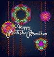 raksha bandhan greeting card design vector image vector image