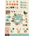 Retro infographics and UI elements vector image vector image