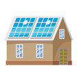 roof solar battery icon cartoon style vector image vector image
