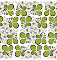 seamless pattern with leaves ornament design for vector image vector image