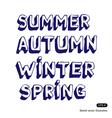Seasonal fonts vector image vector image