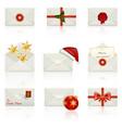 set icons - christmas envelopes vector image