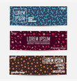 set of colorful trendy banners - memphis style vector image