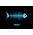 Sonar waveform fish vector image