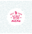Stock fast food cover for menu vector image vector image