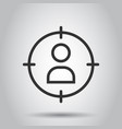 target audience icon in flat style marketing vector image