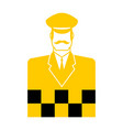taxi driver icon cabbie sign cabdriver symbol vector image vector image