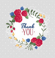 thank you gift card vector image