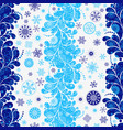 tricolor dark blue-white-blue seamless christmas vector image vector image